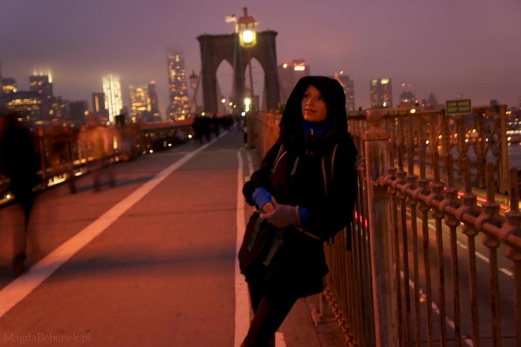 MagdaBebenek.pl nowy jork brooklyn bridge noca
