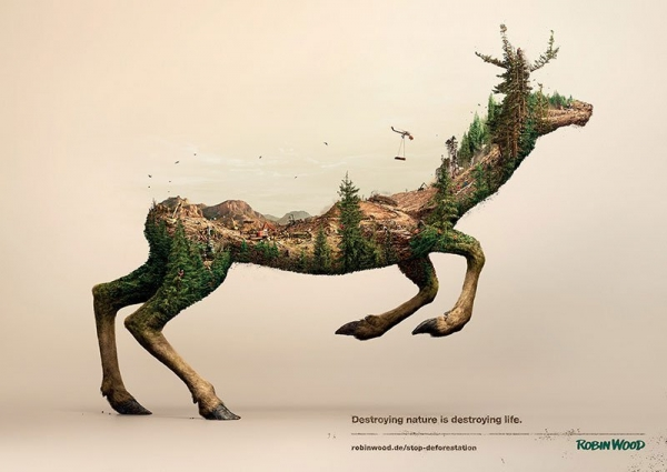 Robin Wood 2 magda bębenek ochrona środowiska jeleń zrównoważona konsumpcja ekologia zaangażowana sztuka