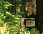 magda bębenek anita rusiecka pirografia las obraz sowy