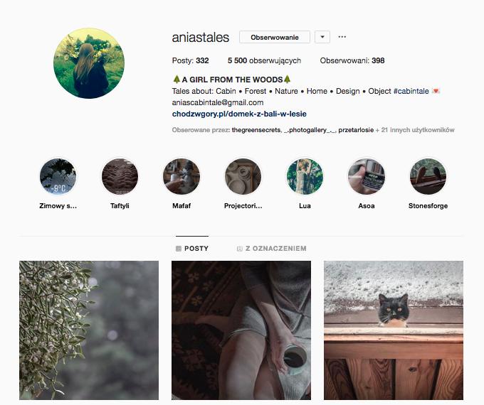 ania's tales inspirujące profile nainstagramie las wnas magda bębenek opowieści zchatki beskid wyspowy