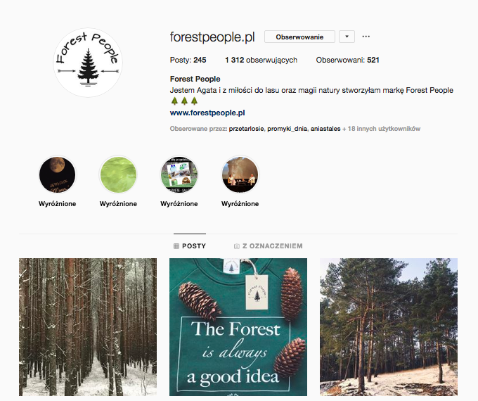 inspirujące profile nainstagramie las wnas magda bębenek forestpeople.pl