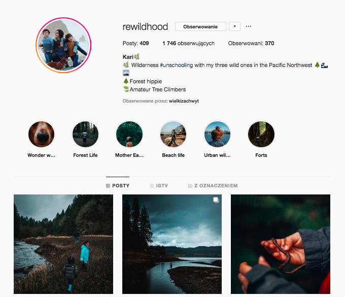 inspirujące profile nainstagramie las wnas magda bębenek rewildhood unschooling instagram dzikie dzieci