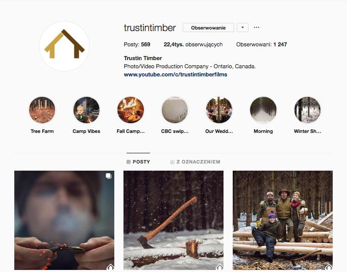 inspirujące profile nainstagramie las wnas magda bębenek trustin timber