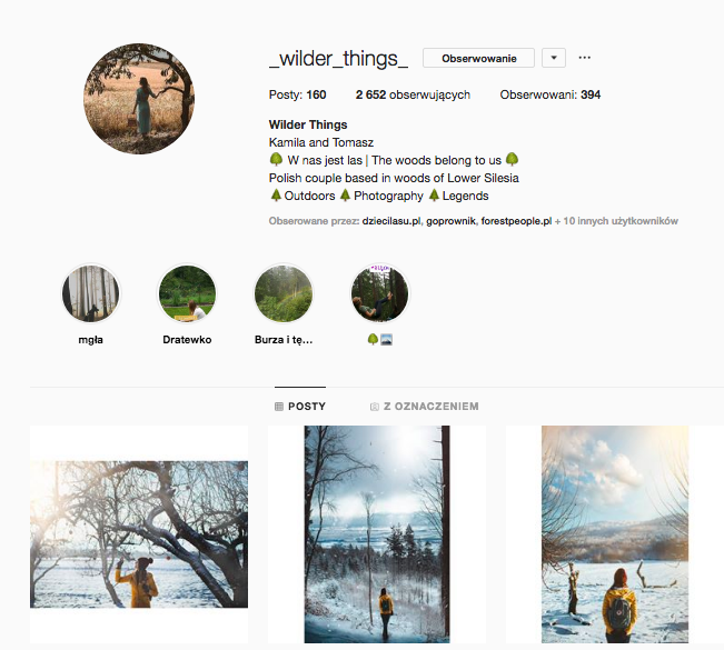 inspirujące profile nainstagramie las wnas magda bębenek wilder things