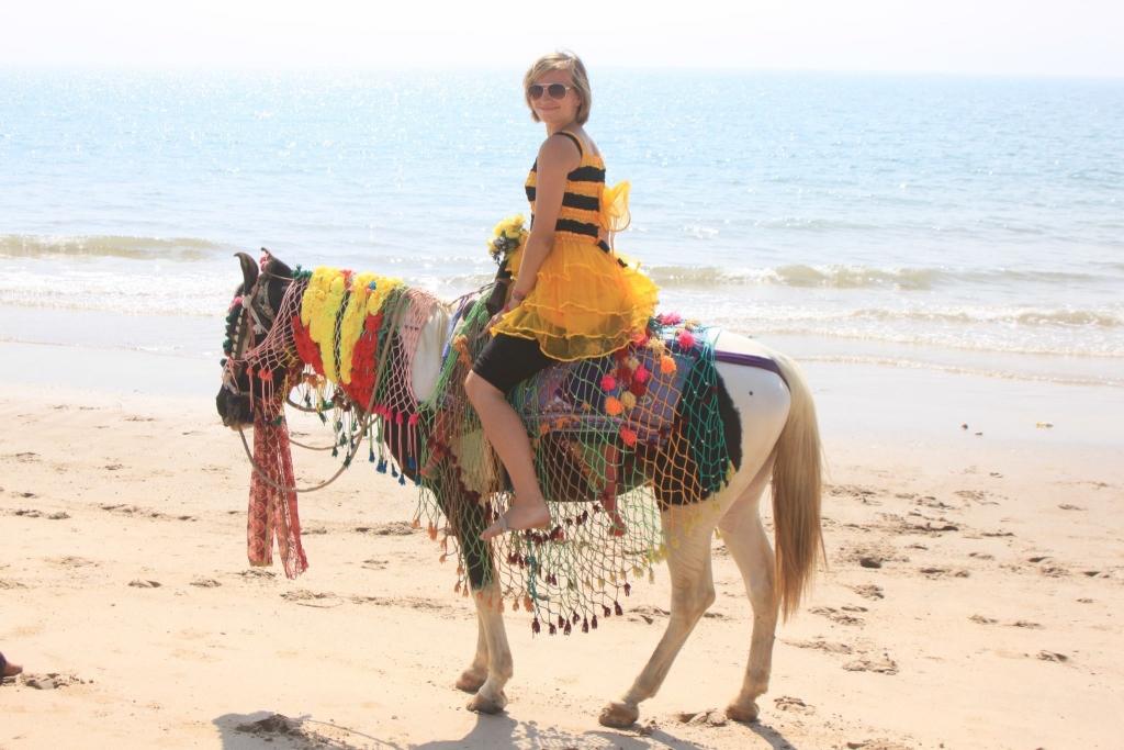 Bez stresu ibez spiny naplaży gdzieś wpółnocnych Indiach