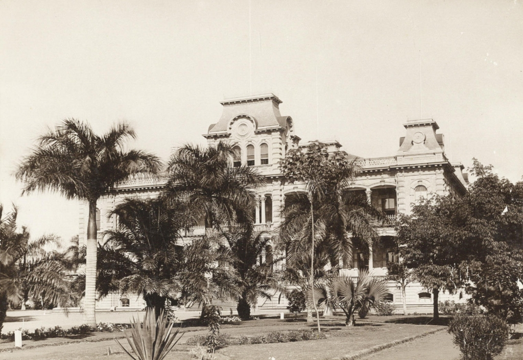Pałac 'Iolani, Honolulu około roku 1890 Zdjęcie: Frederick George Eyton-Walker