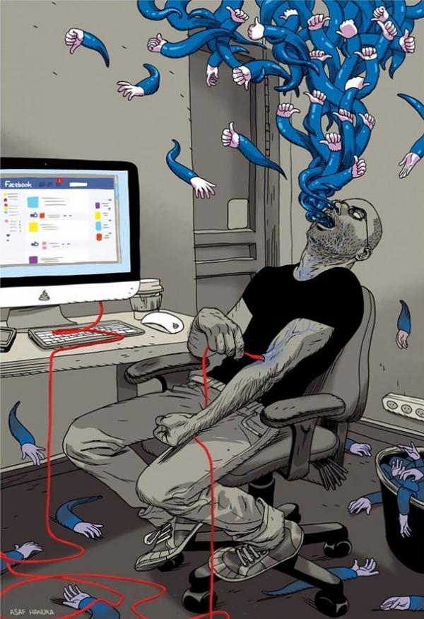 Asaf Hanuka magda bębenek ochrona środowiska zrównoważona konsumpcja ekologia zaangażowana sztuka satyra współczesny świat facebook