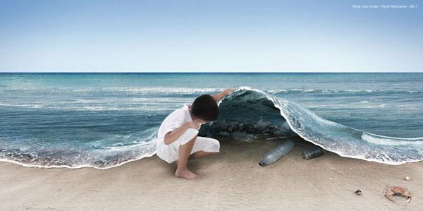 Ferdi Rizkiyanto magda bębenek ochrona środowiska zrównoważona konsumpcja ekologia zaangażowana sztuka ocean plastik zanieczyszczenie recycling