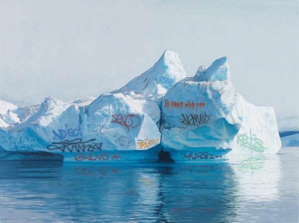 Josh Keyes 3 magda bębenek ochrona środowiska lodowiec zrównoważona konsumpcja ekologia zaangażowana sztuka