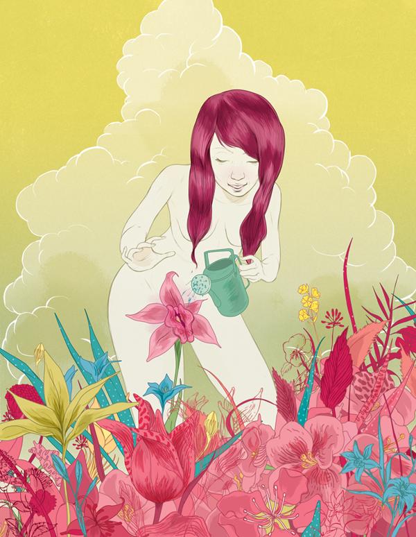 Marcos Chin magda bębenek ochrona środowiska zrównoważona konsumpcja ekologia zaangażowana sztuka kobieta natura kwiaty