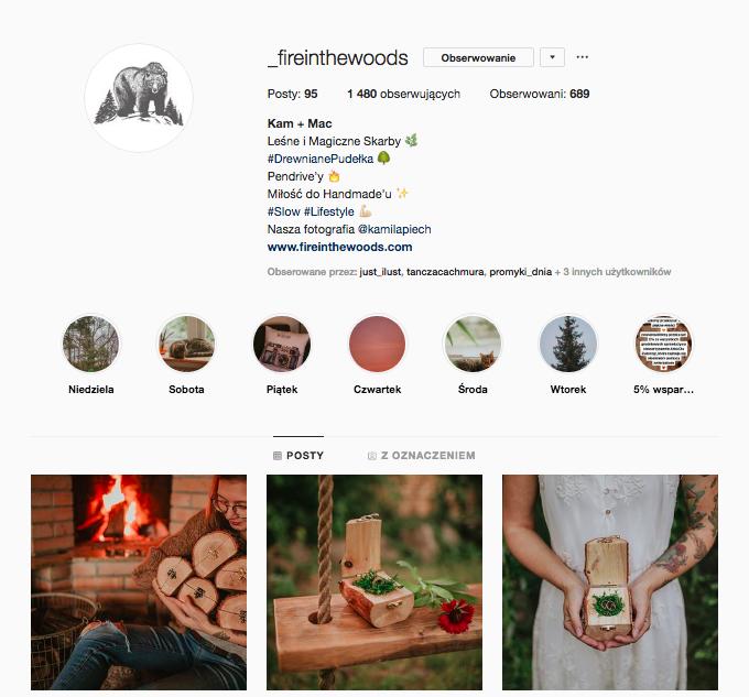 inspirujące profile nainstagramie las wnas magda bębenek fire in the woods kamila piech