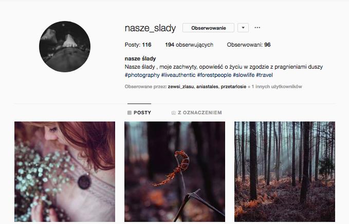 nasze ślady inspirujące profile nainstagramie las wnas magda bębenek