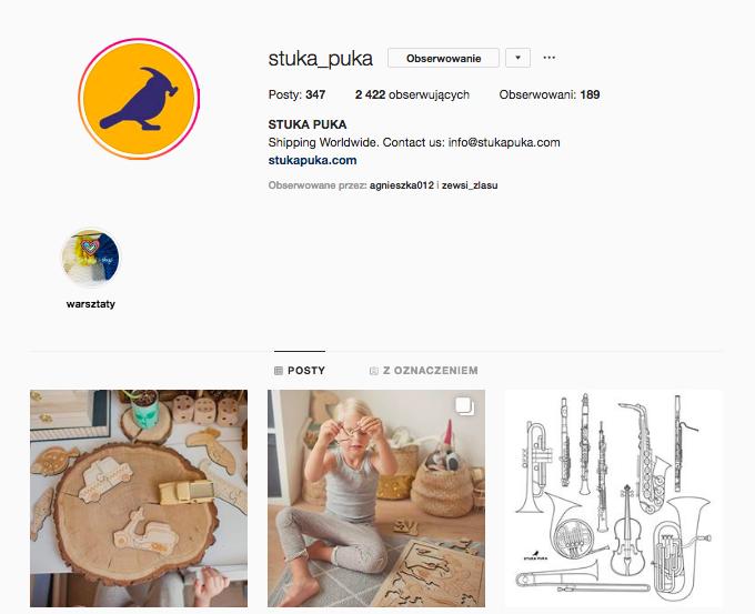 stuka puka inspirujące profile nainstagramie las wnas magda bębenek drewniane zabawki