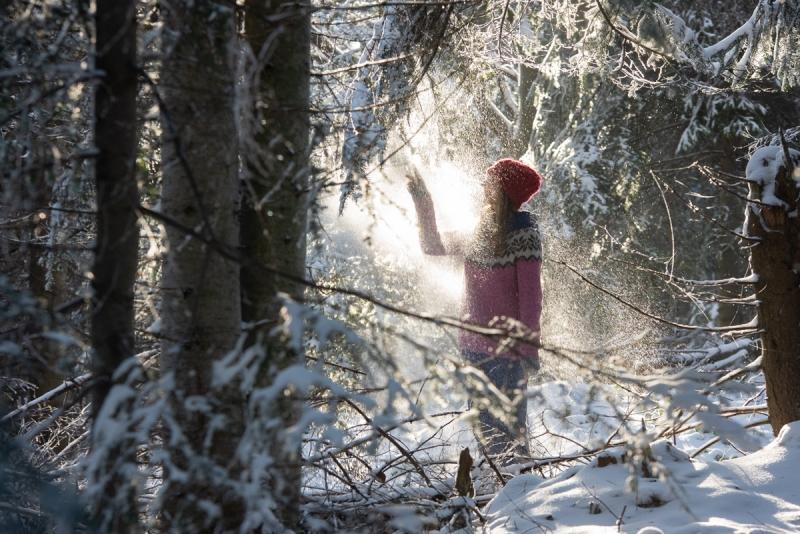 dzikie dzieci magda bębenek rok bliżej natury las wnas kąpiel leśna zimowy las